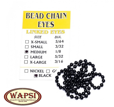 BEAD CHAIN EYES Descrizione: diametro 4,7 mm Black