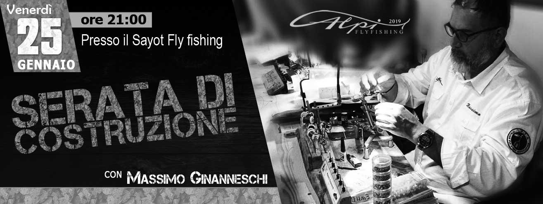 25 gennaio serata di costruzione con massimo ginanneschi - alpiflyfishing